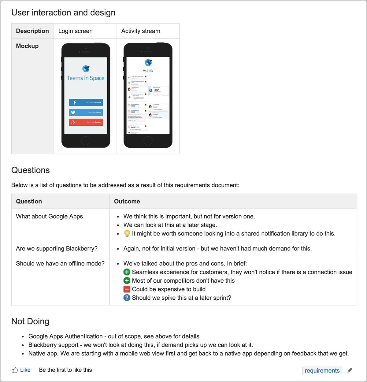 Documento de requisitos de productos | Orientador ágil de Atlassian