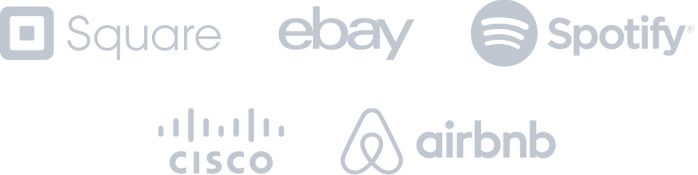 Square, ebay, spotify, cisco, and airbnb logos