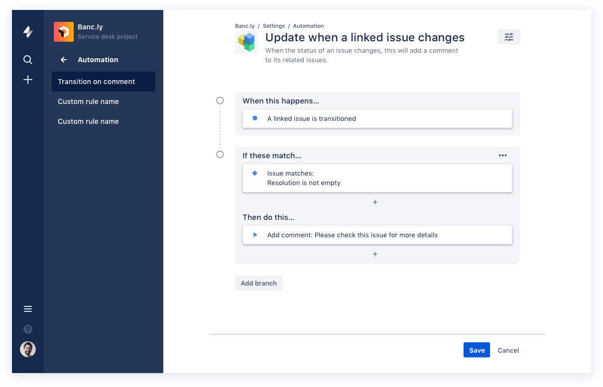 Automation in Jira Service Desk
