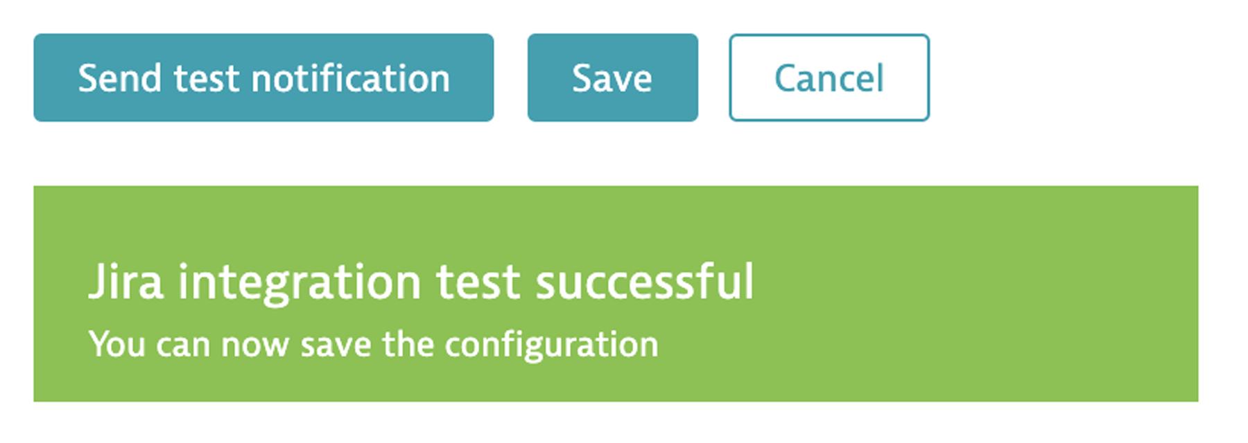 Jira integration test successful