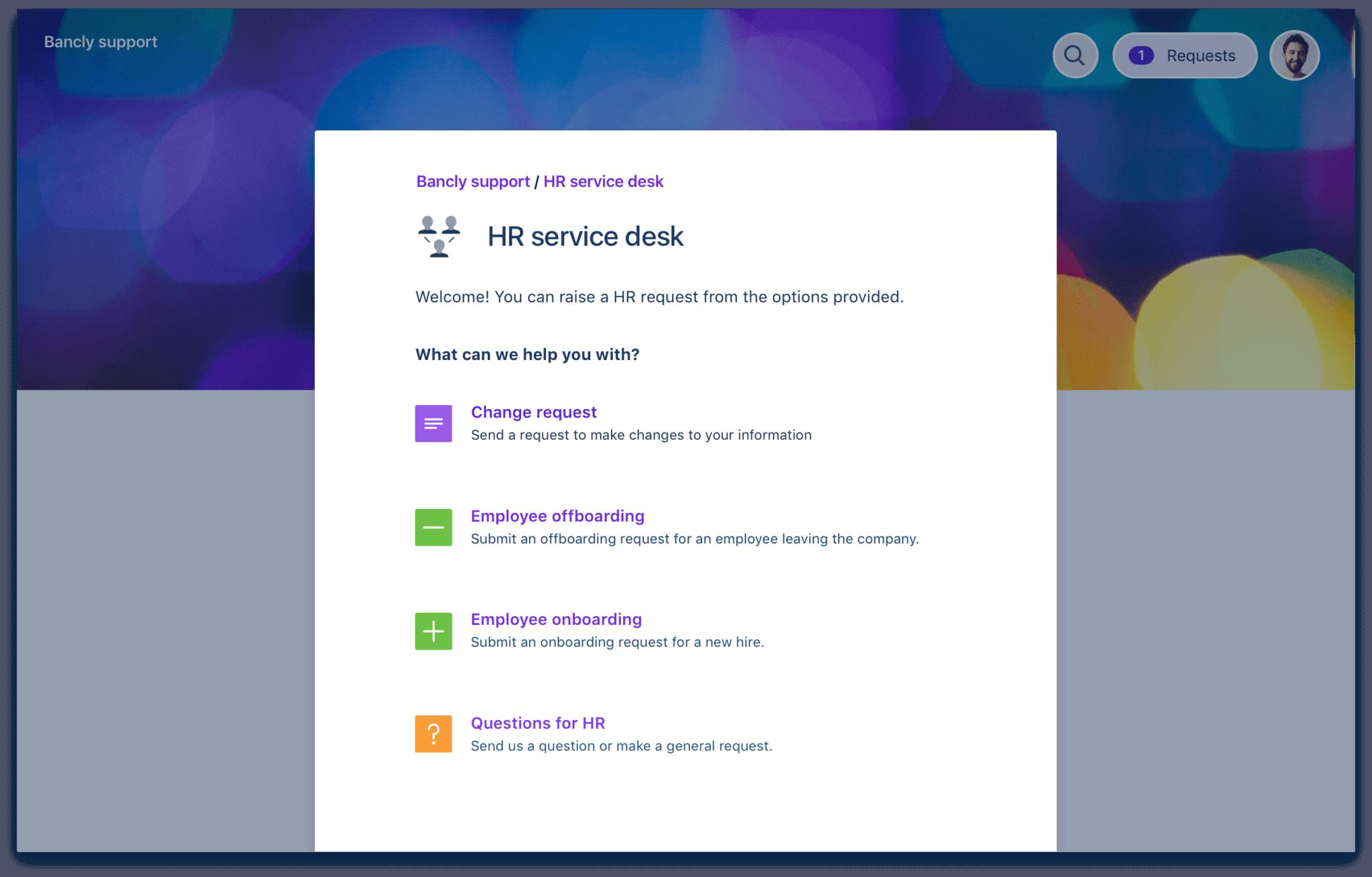 人事サービス デスク