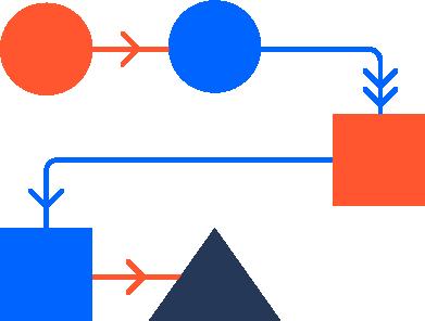 Ilustración de un flujo de trabajo sencillo
