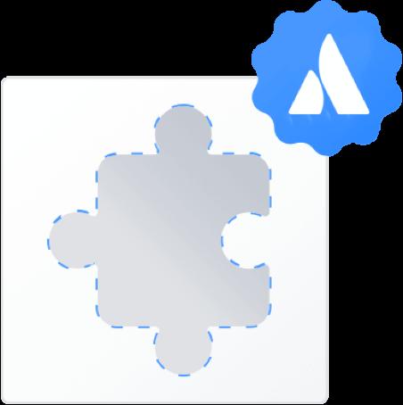Construção com o logotipo da Atlassian