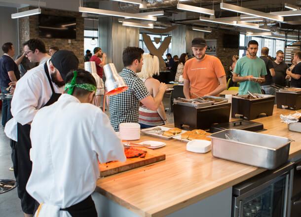 Friday family breakfast at Atlassian Austin