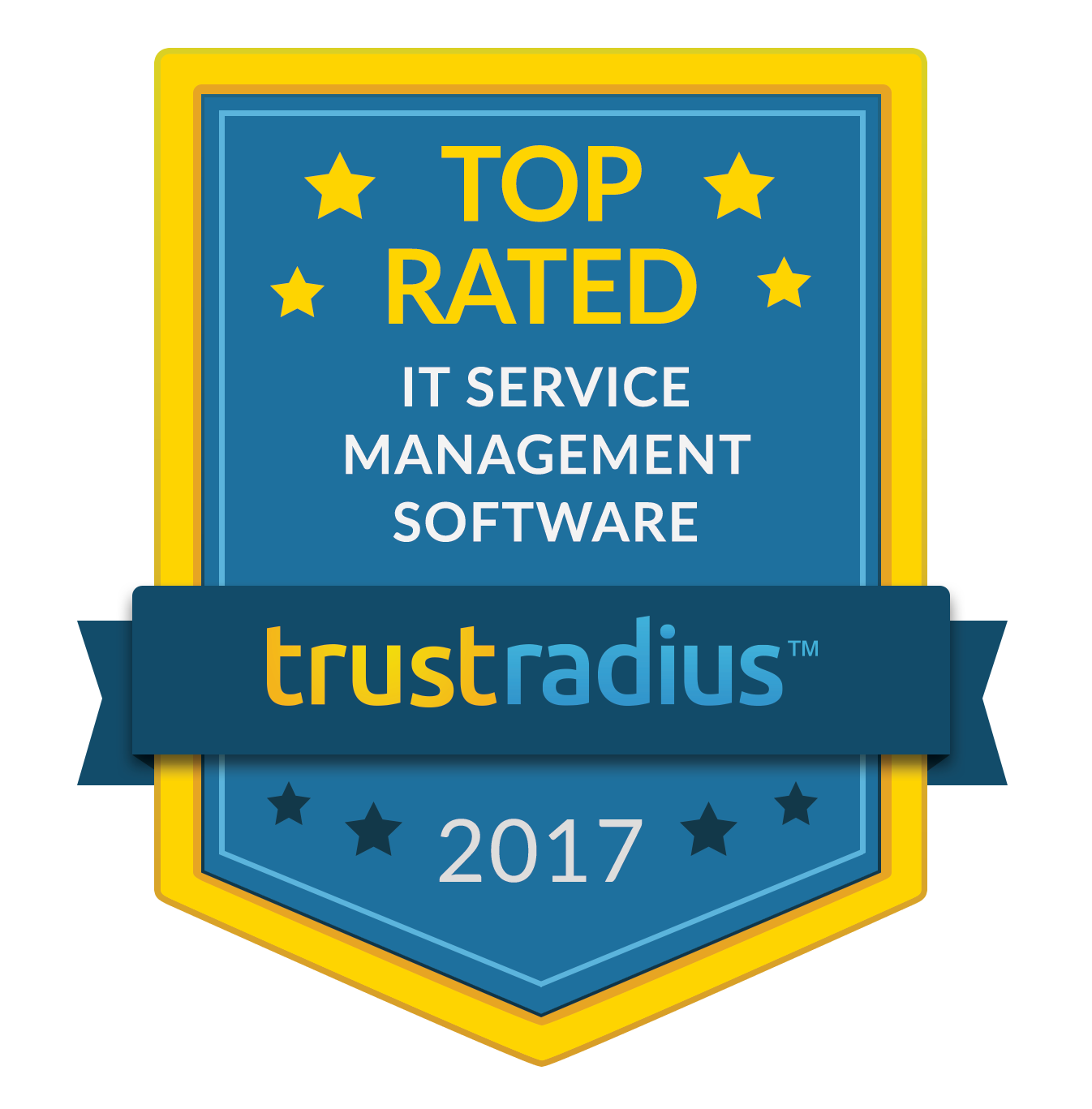 Symbol TrustRadius-Bewertung als erstklassige IT-Service-Management-Software