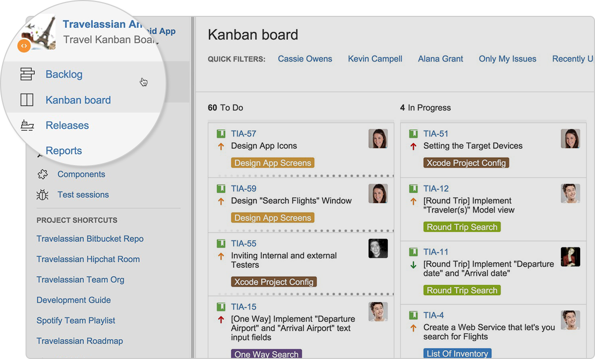 Бэклог kanban  Atlassian— тренер по agile