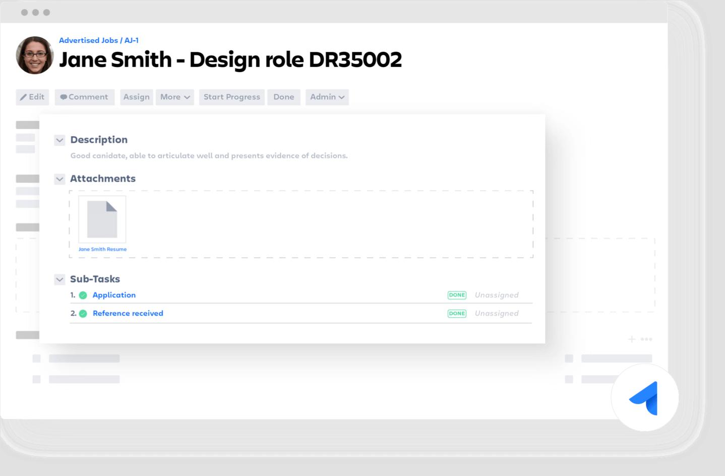 Jira Core-Ticket zur Designrolle