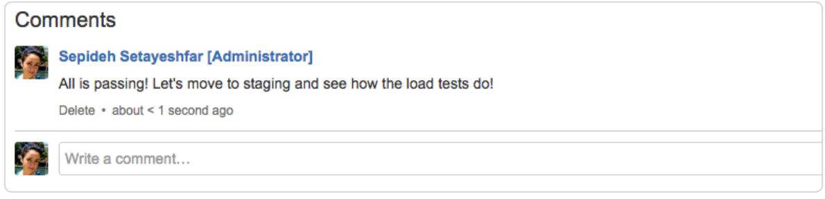 Comment screenshot
