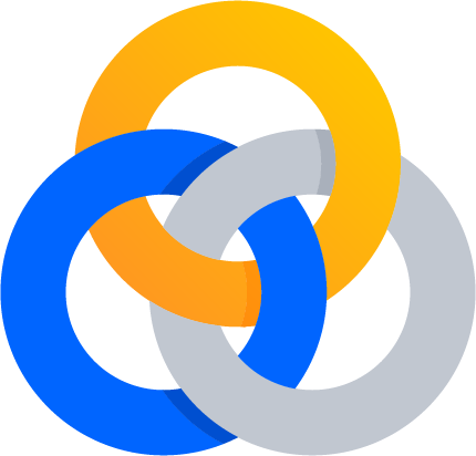 Three interconnected rings icon