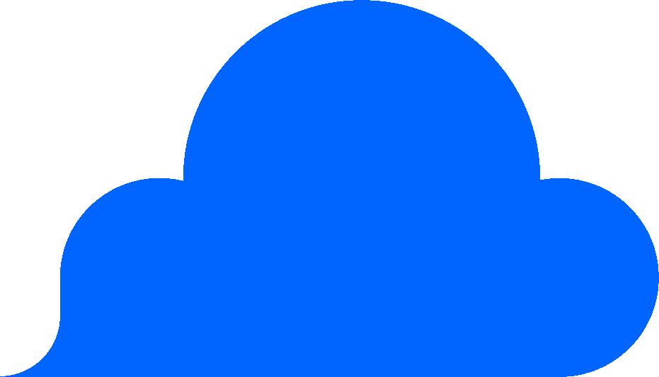 Blaue Wolke