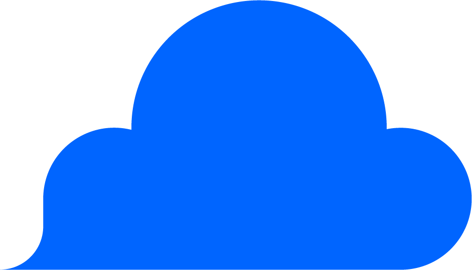 Blauwe wolk