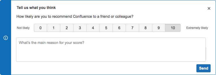 NPS avec feedback  Atlassian– Le coach Agile