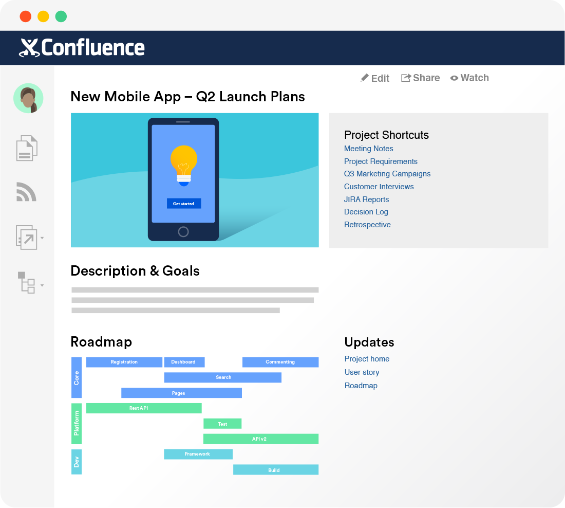 Confluence project collaboration software