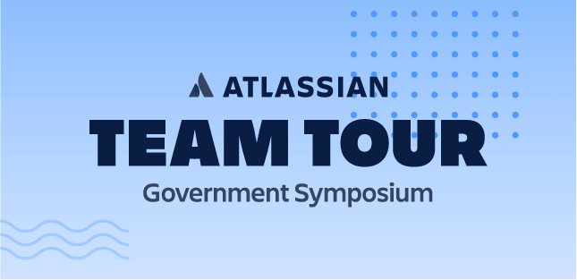 Team tour Government Symposium banner