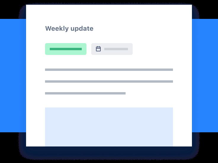 Captura de tela das Atualizações semanais