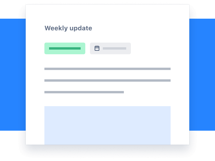Screenshot degli aggiornamenti settimanali