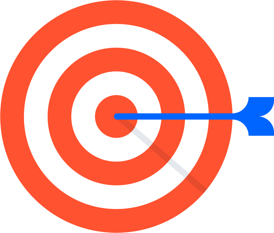 Target with arrow