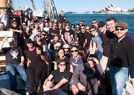 Sydney Atlassians on a boat
