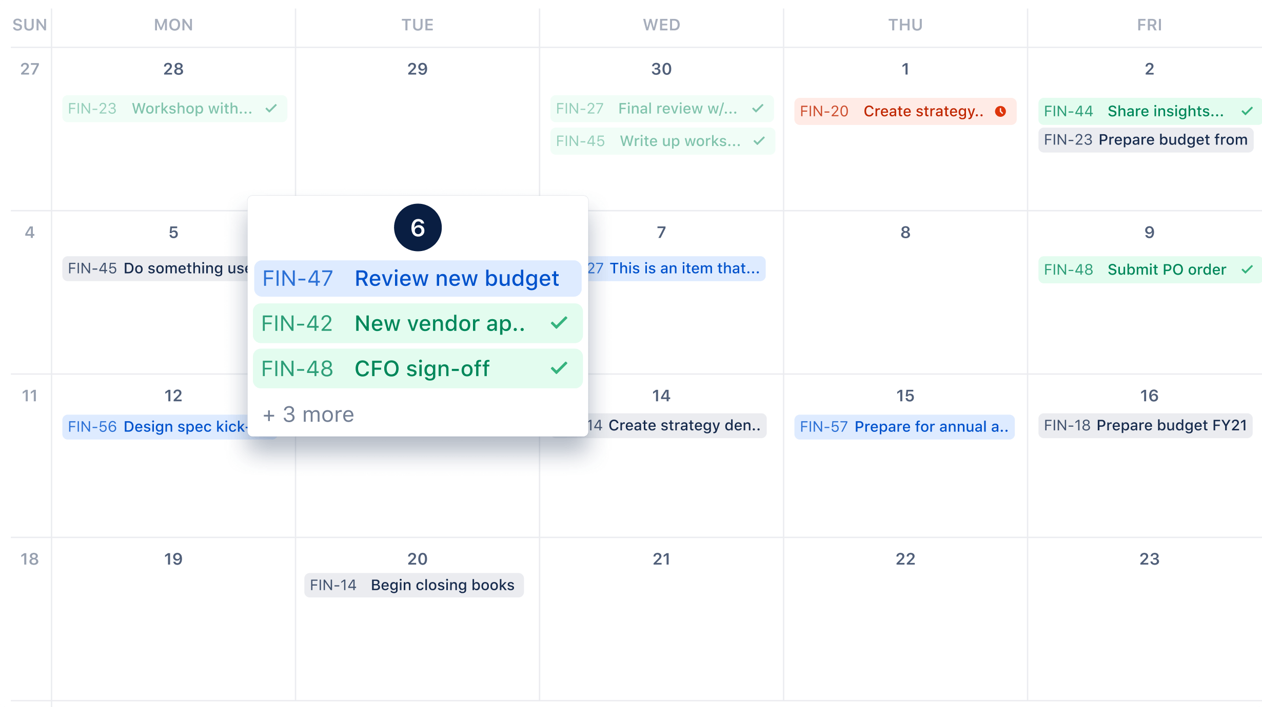 Screenshot: Kalender
