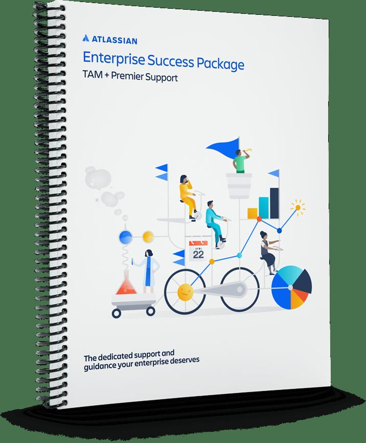 Titelseite eines Notizbuchs: Enterprise Success Package