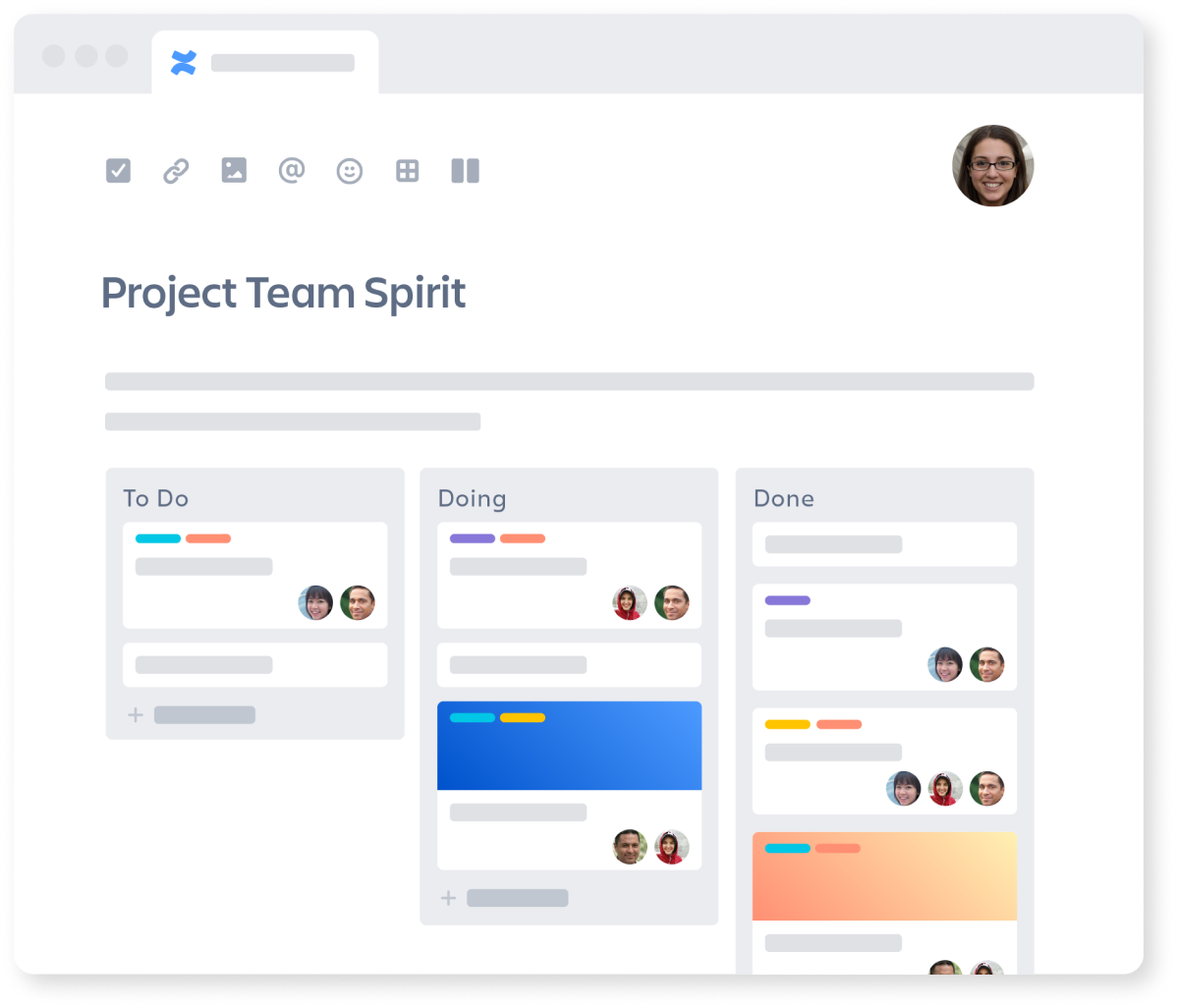 Project Collaboration between Confluence and Trello