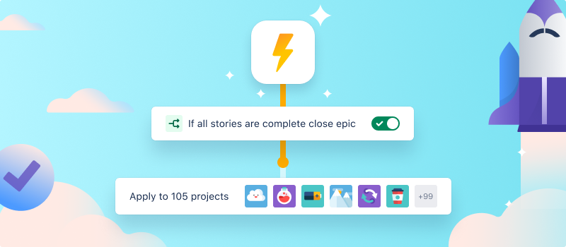 Screenshot automazione globale multi-progetto