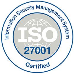 Logo de certificação do Sistema de Gerenciamento de Segurança da Informação