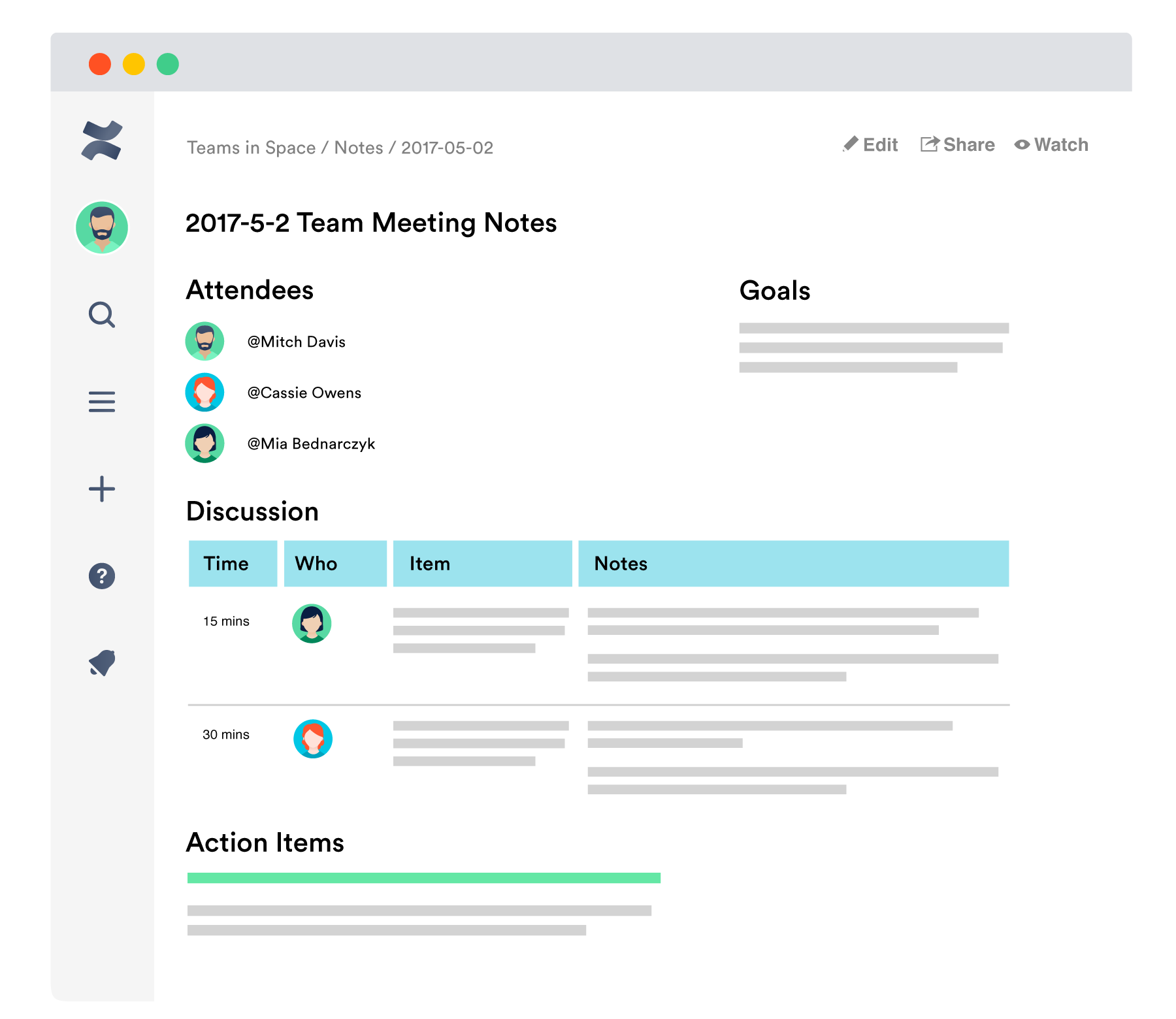 Confluence team documentation software
