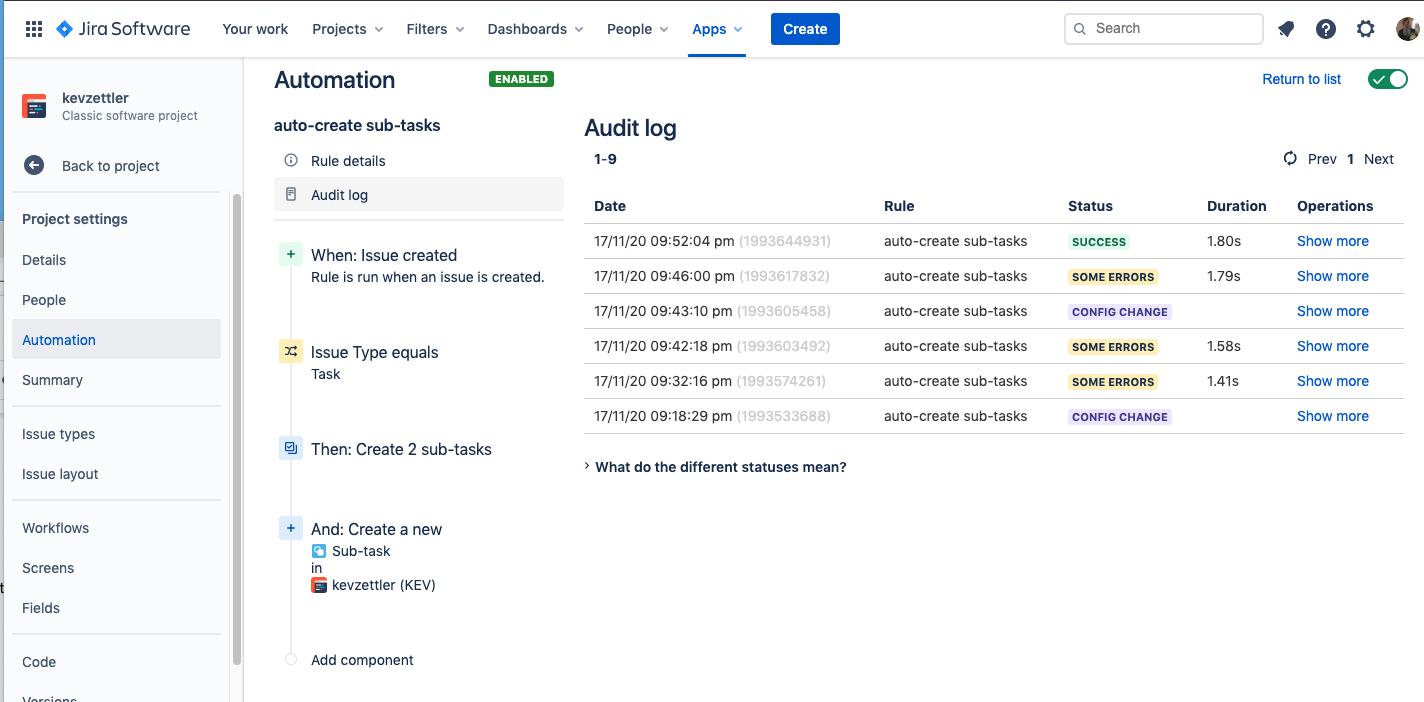 Visit the audit log