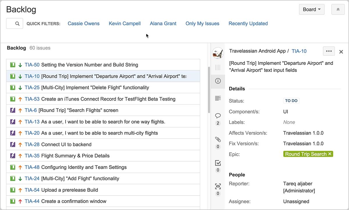 Kanplan– Agile-Backlog   Atlassian Agile Coach