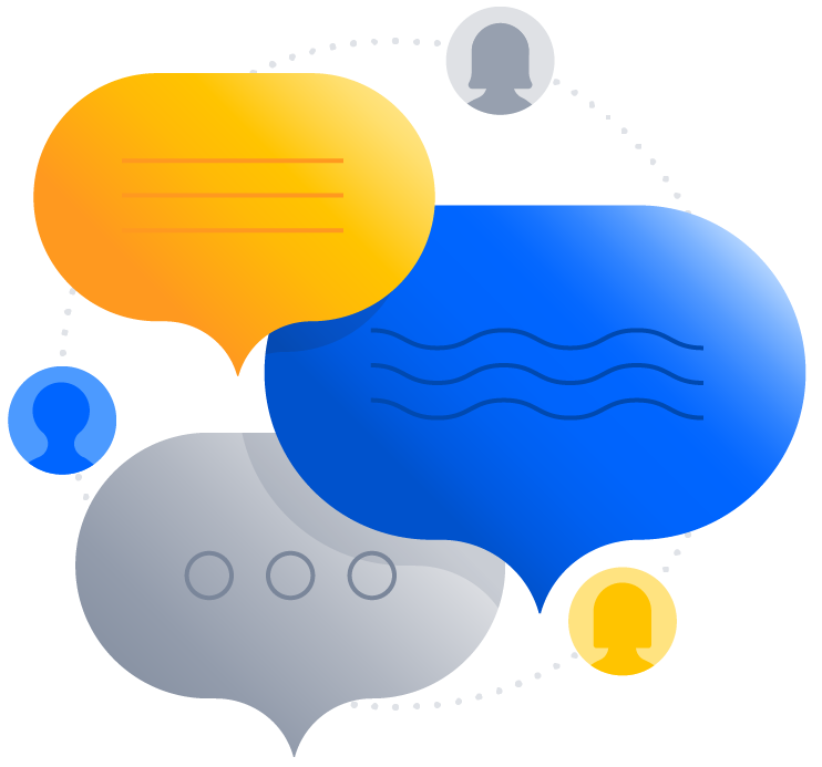Illustration of message bubbles