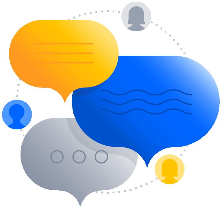 Illustration de bulles de discussion