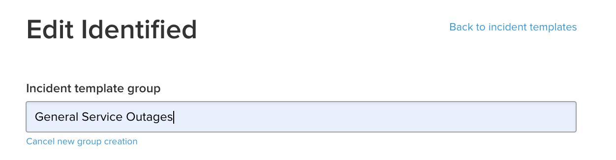 更新中のテンプレート グループのスクリーンショット
