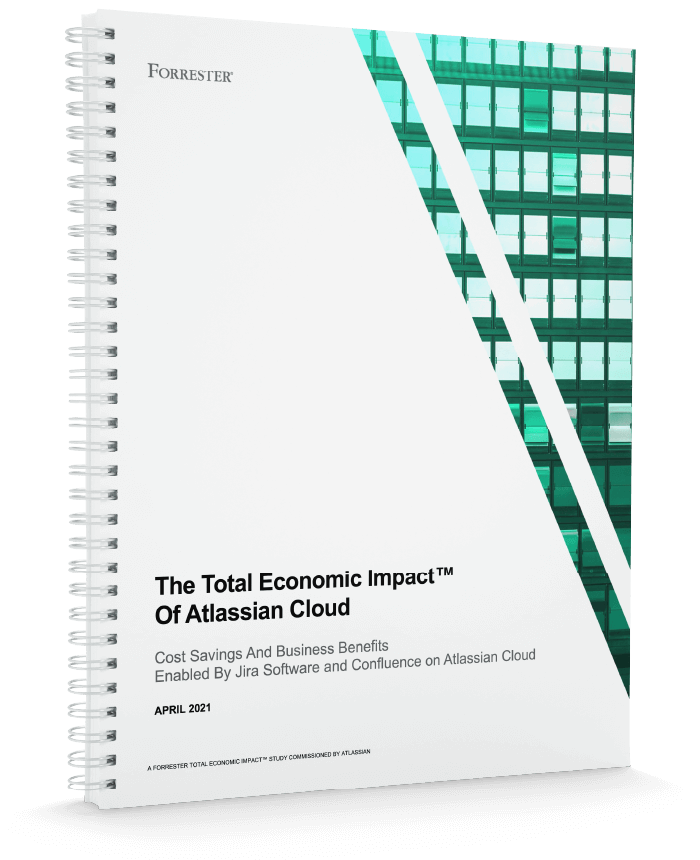 Total economic impact of Atlassian Cloud whitepaper cover