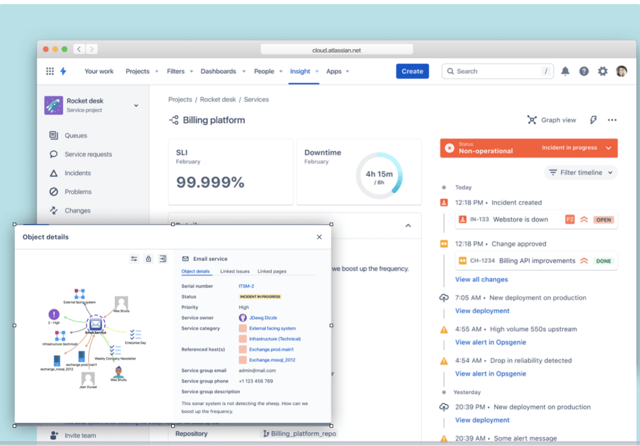 Captura de pantalla de gestión de activos