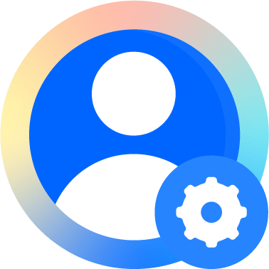 Avatar de usuario con icono de configuración