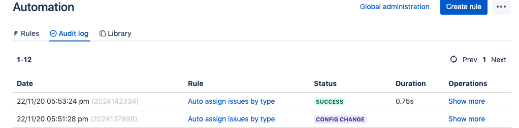 Now that the rule has been enabled you can trigger it by creating some issues within your project.