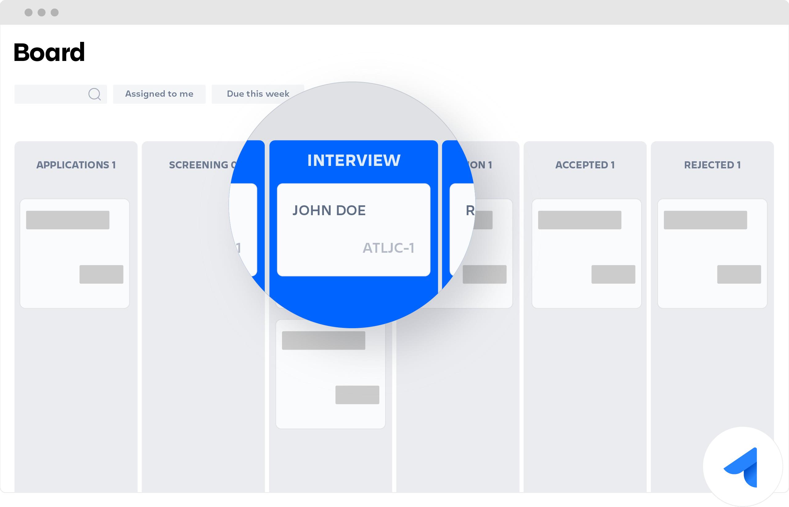 Jira Core board with Interview lane