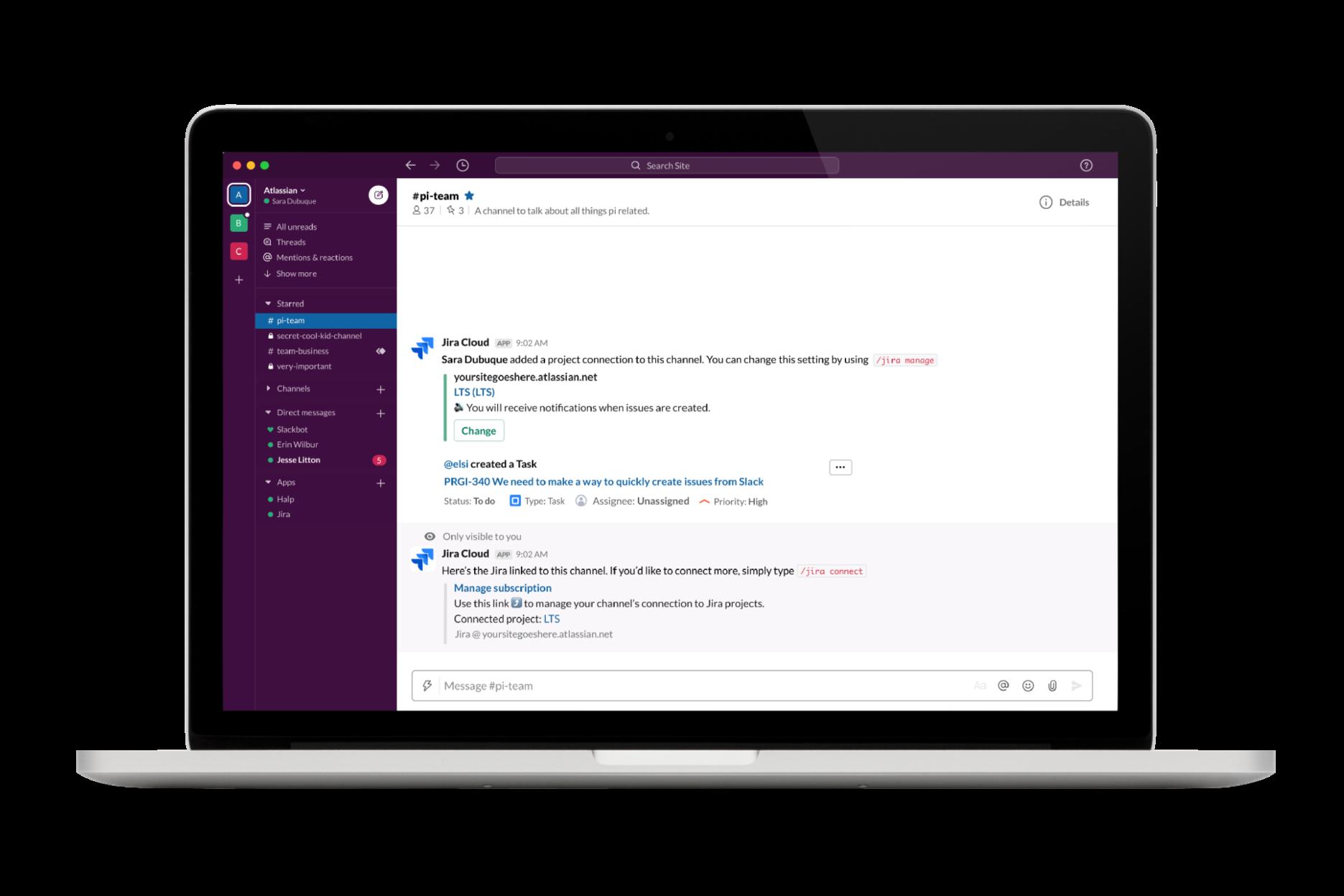 Slack 및 Atlassian