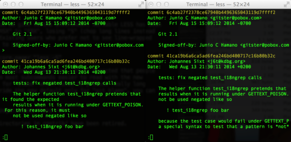 Pager styles in git 2.1.0 vs git 2.0.3