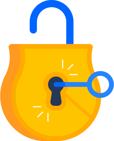 Unlocked lock with key illustration