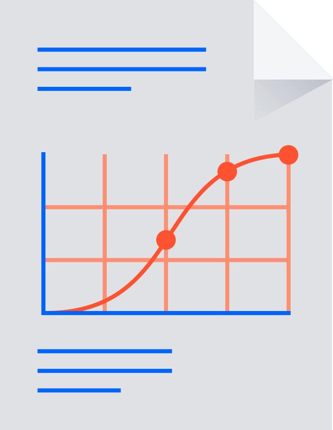 Papier met grafiek