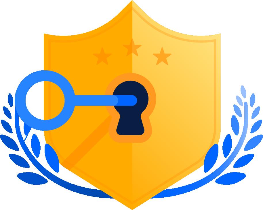 Key in shielded lock