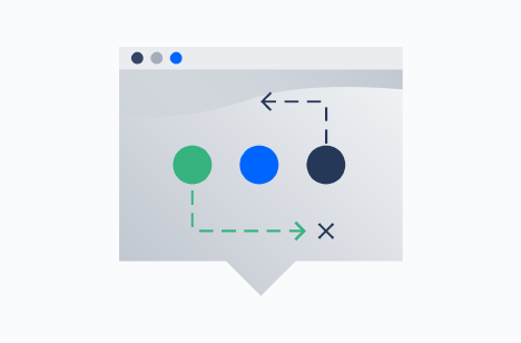 Browser with shapes and arrows