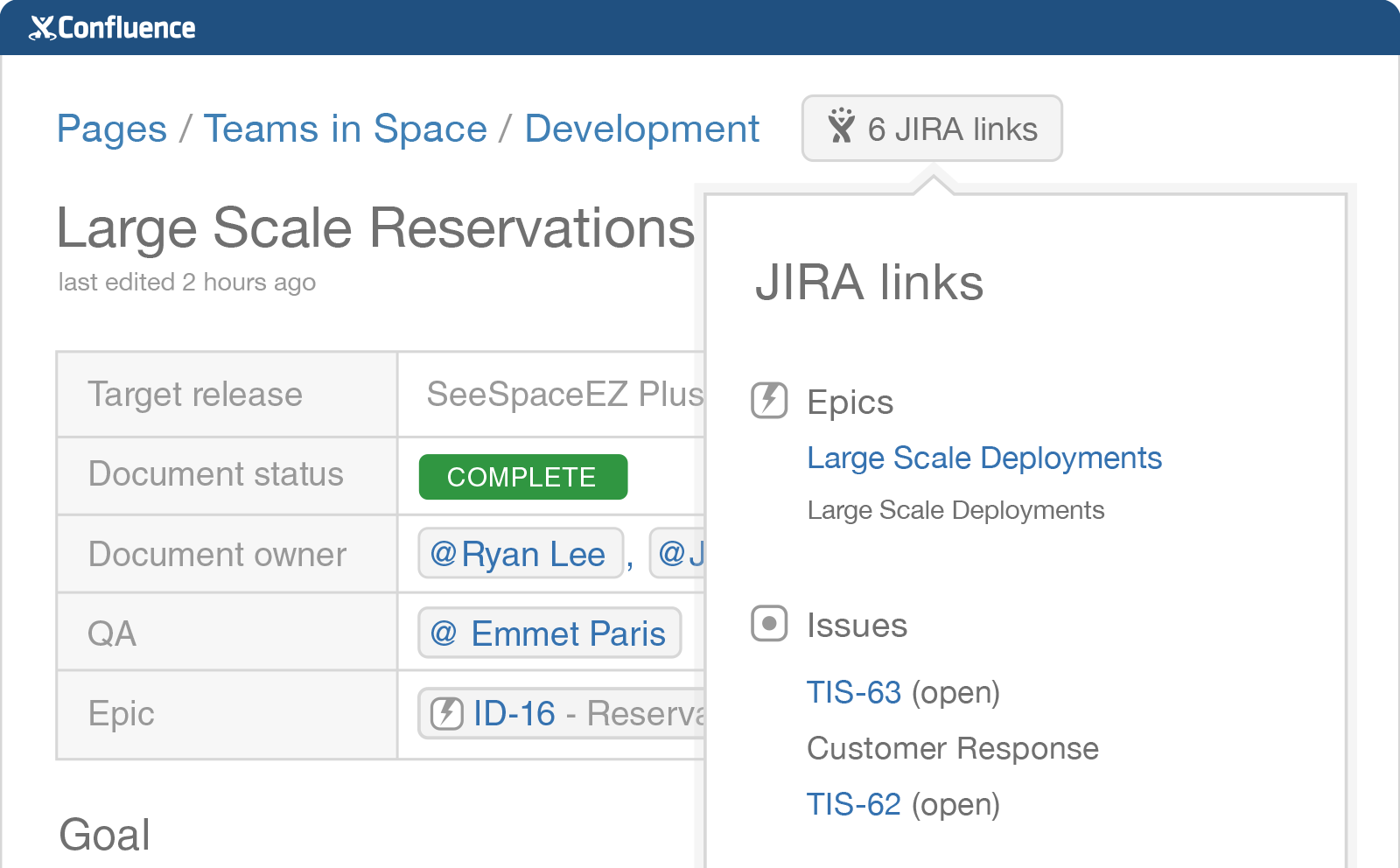 Confluence and JIRA