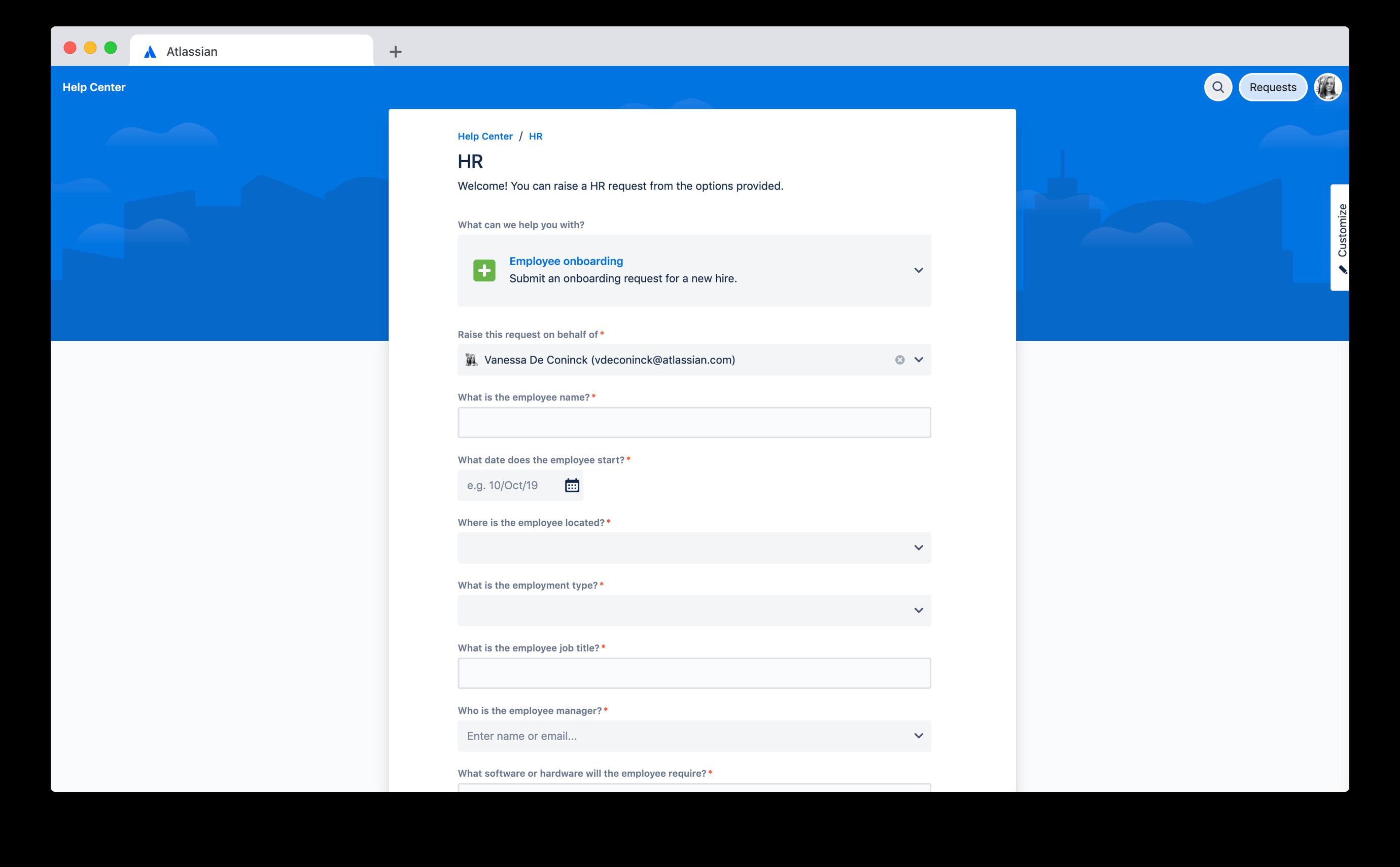 Portal de integração de funcionários
