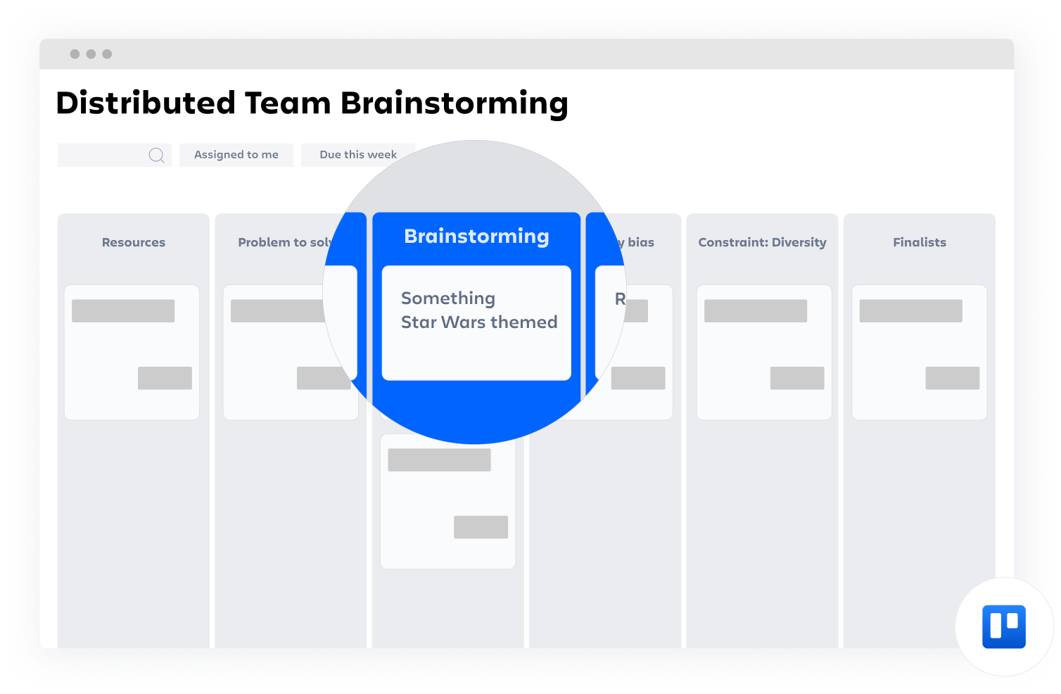 Distributed Team Brainstorming confluence template