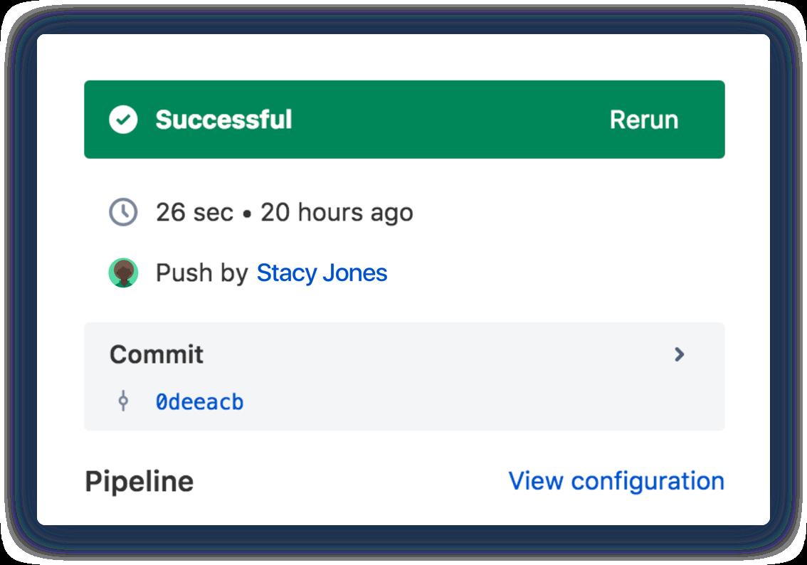 Captura de pantalla de Bitbucket Pipelines