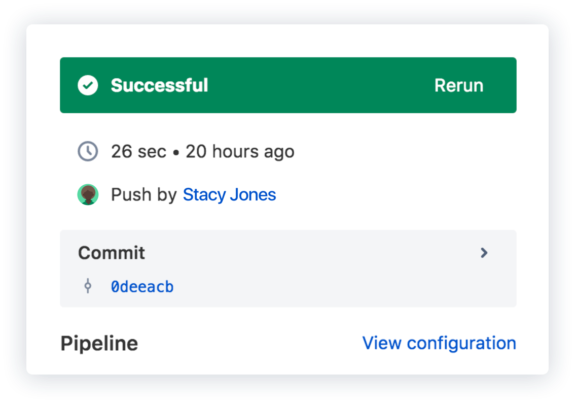 Screenshot di Bitbucket Pipelines