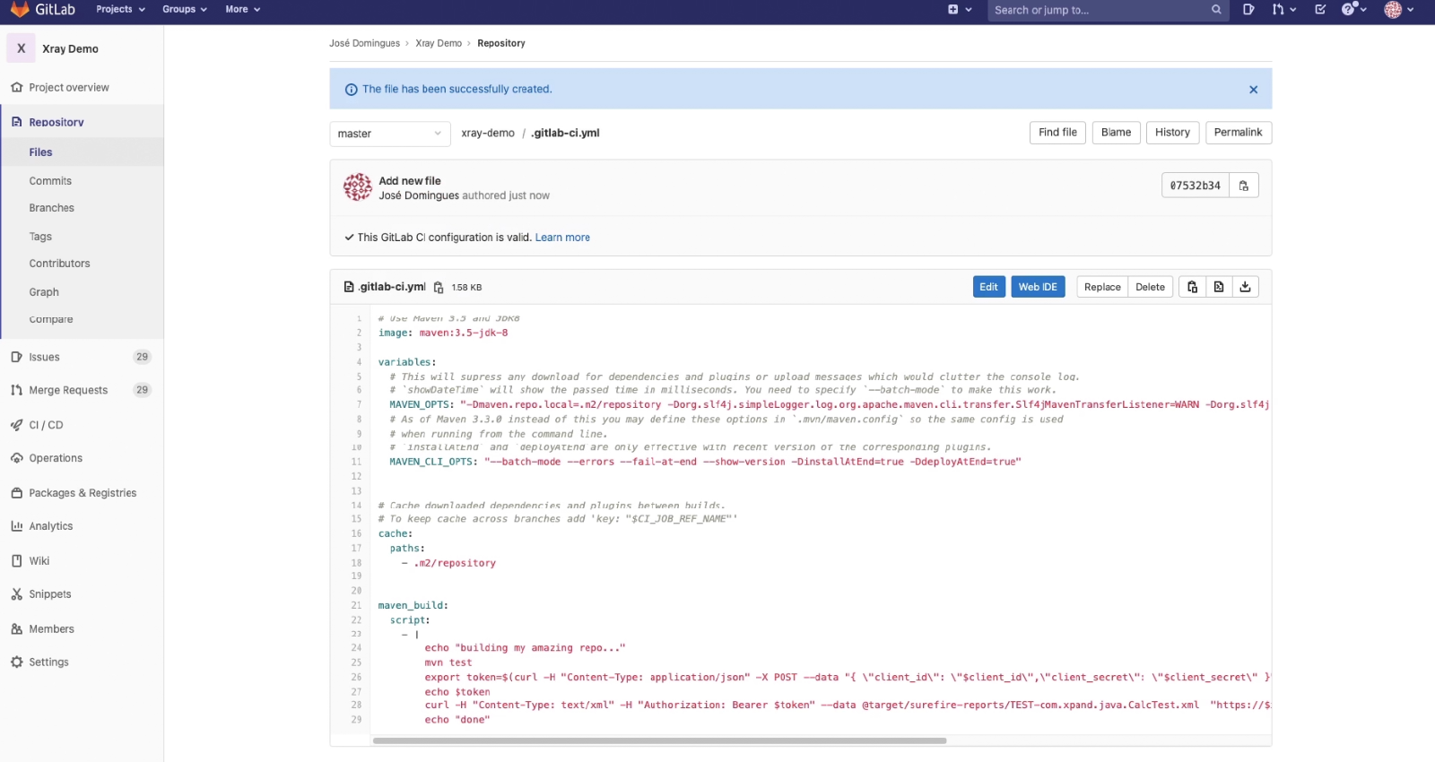 GitLab repository issue key